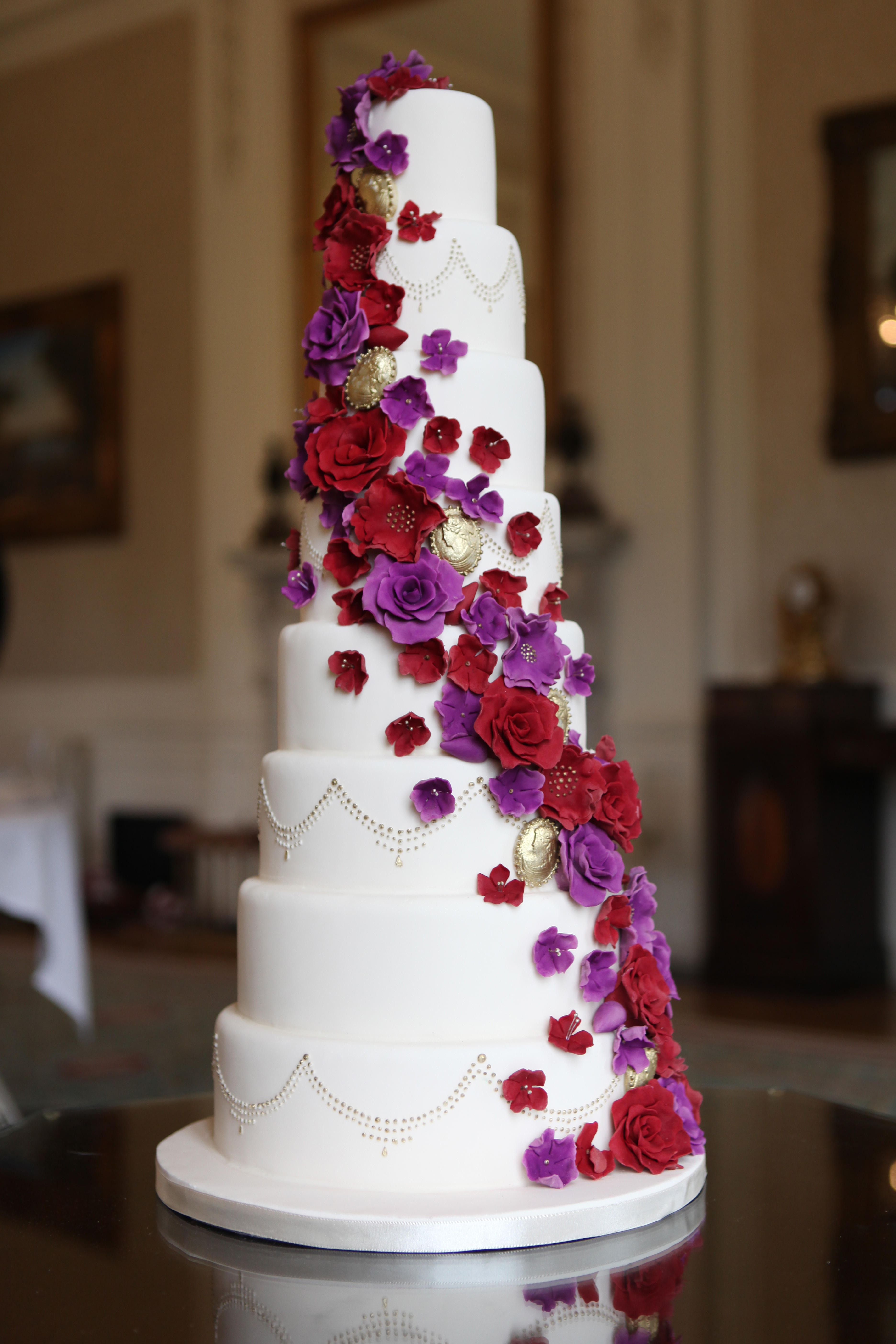 Asian cake design wedding